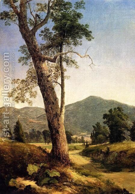 Landscape Beyond the Tree by Asher Brown Durand - Reproduction Oil Painting
