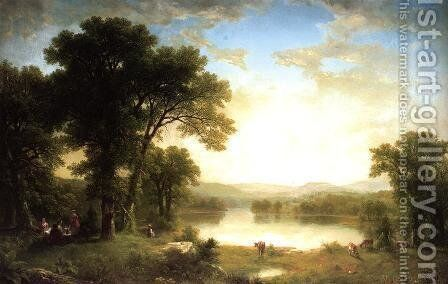 Picnic in the Country by Asher Brown Durand - Reproduction Oil Painting