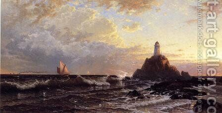 The Lighthouse 2 by Alfred Thompson Bricher - Reproduction Oil Painting