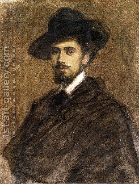 Portrait of a Man by Jean-Louis Forain - Reproduction Oil Painting