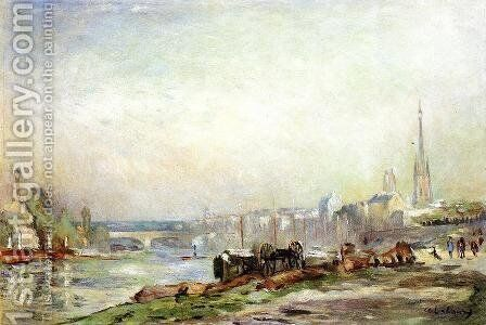 Rouen, the Seine and the Cathedral by Albert Lebourg - Reproduction Oil Painting