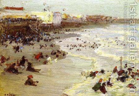 Coney Island by Edward Henry Potthast - Reproduction Oil Painting