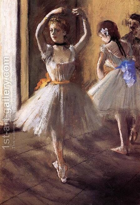 Two Dancers in the Studio I by Edgar Degas - Reproduction Oil Painting