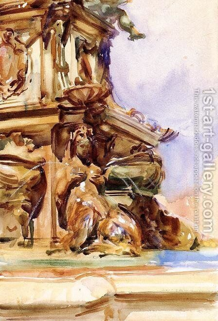 The Great Fountain of Bologna by Sargent - Reproduction Oil Painting