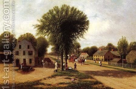 Sherburne Village, Chenango County by Clinton Loveridge - Reproduction Oil Painting