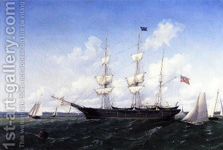 Whaling Bark 'J. D. Thompson' of New Bedford by William Bradford - Reproduction Oil Painting