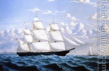 Clipper Ship 'Northern Light' of Boston by William Bradford - Reproduction Oil Painting