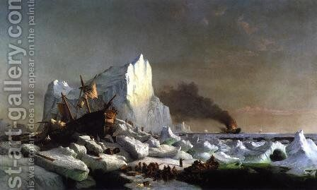 Sealers Crushed by Icebergs by William Bradford - Reproduction Oil Painting