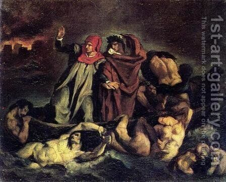 The Barque of Dante (after Delacroix) by Edouard Manet - Reproduction Oil Painting