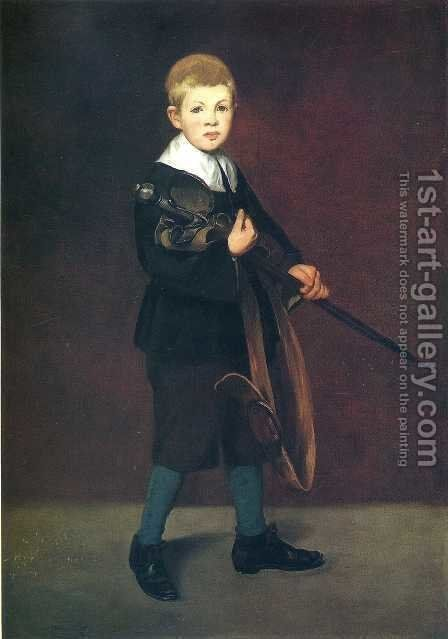 Boy with a Sword by Edouard Manet - Reproduction Oil Painting