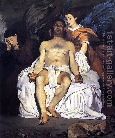 The Dead Christ and the Angels by Edouard Manet - Reproduction Oil Painting