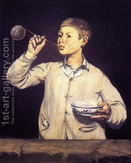 Soap Bubbles by Edouard Manet - Reproduction Oil Painting