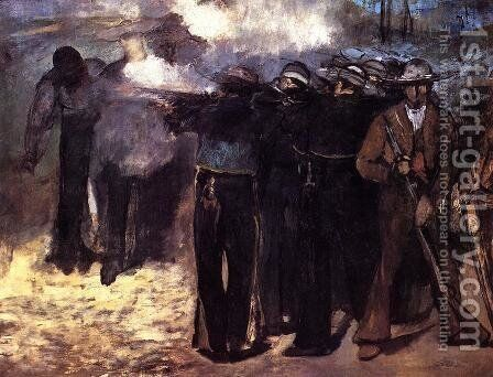 The Execution of the Emperor Maximilian by Edouard Manet - Reproduction Oil Painting