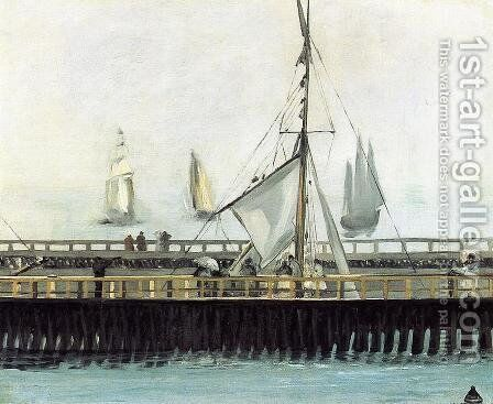 The Pier at Boulogne by Edouard Manet - Reproduction Oil Painting