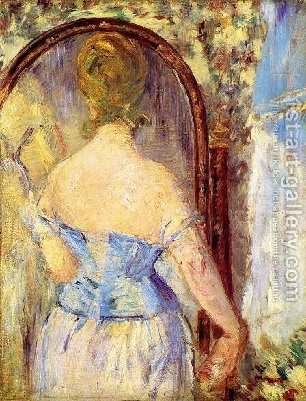 Before the Mirror by Edouard Manet - Reproduction Oil Painting