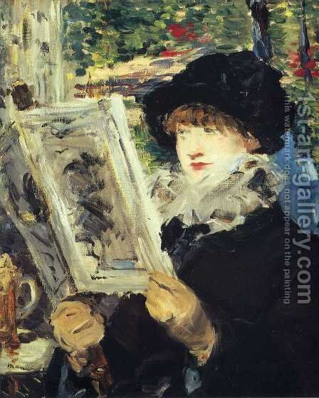 Reading I by Edouard Manet - Reproduction Oil Painting