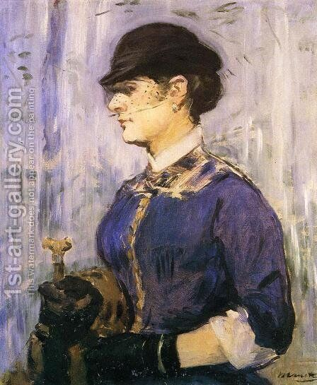 Young Woman in a Round Hat by Edouard Manet - Reproduction Oil Painting
