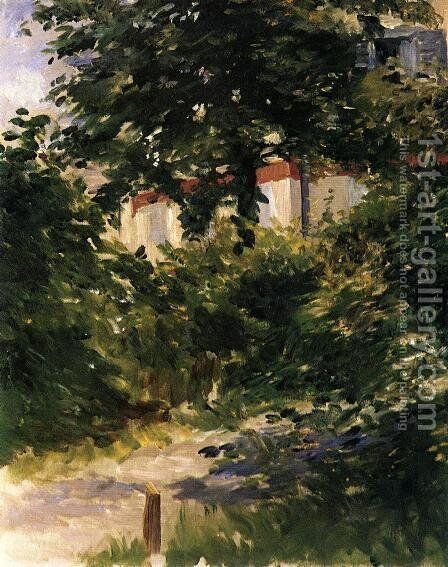 A Path in the Garden at Rueil by Edouard Manet - Reproduction Oil Painting