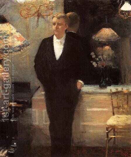 Portrait of Octave Maus by Theo van Rysselberghe - Reproduction Oil Painting