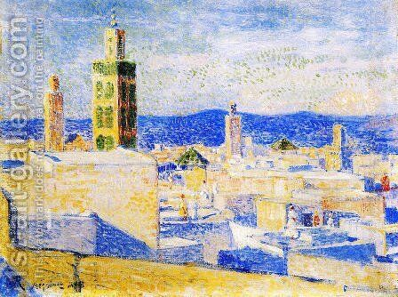 View of Meknes, Morocco I by Theo van Rysselberghe - Reproduction Oil Painting