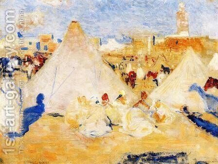 Encampment near a Moroccan Village by Theo van Rysselberghe - Reproduction Oil Painting