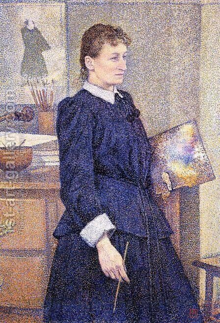 Anna Boch in Her Studio by Theo van Rysselberghe - Reproduction Oil Painting