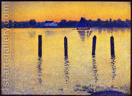 Sailboats on the River Scheldt by Theo van Rysselberghe - Reproduction Oil Painting