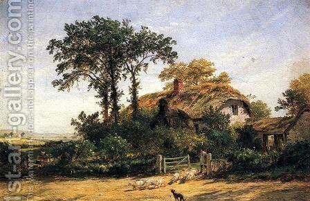 The Cottage of the Dairyman's Daughter by Jasper Francis Cropsey - Reproduction Oil Painting