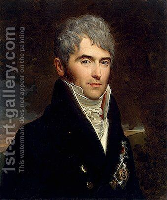 Portrait of Prince Viktor Kochubey by Baron Francois Gerard - Reproduction Oil Painting
