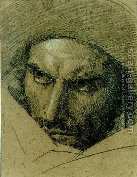 Head of F. Ravaillac - study by Baron Francois Gerard - Reproduction Oil Painting