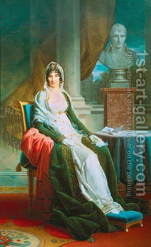 Portrait of Madame Mere by Baron Francois Gerard - Reproduction Oil Painting