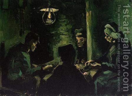 Four Peasants at a Meal by Vincent Van Gogh - Reproduction Oil Painting
