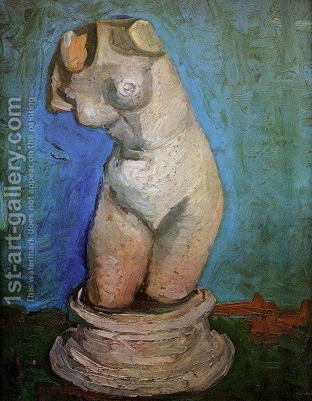 Plaster Statuette of a Female Torso 2 by Vincent Van Gogh - Reproduction Oil Painting