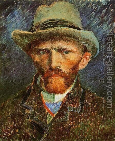 Self Portrait with a Grey Felt Hat by Vincent Van Gogh - Reproduction Oil Painting