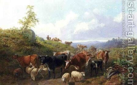 Down the road in Franklin County New York by Arthur Fitzwilliam Tait - Reproduction Oil Painting