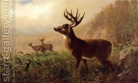 A Tempting Shot by Arthur Fitzwilliam Tait - Reproduction Oil Painting