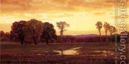 Sunset by James Renwick Brevoort - Reproduction Oil Painting