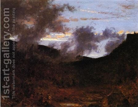 Mist Rising near New Paltz by Jervis McEntee - Reproduction Oil Painting