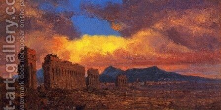 Roman Aqueduct by Jervis McEntee - Reproduction Oil Painting