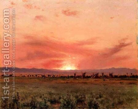 The Far West by Jervis McEntee - Reproduction Oil Painting