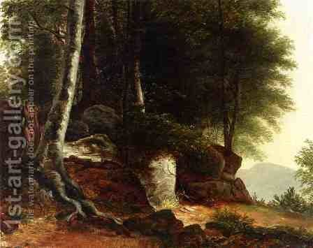 A Study from Nature by Asher Brown Durand - Reproduction Oil Painting