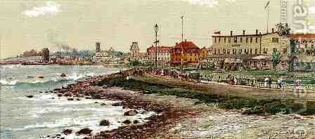Narragansett Pier in 1888 by Edmund Darch Lewis - Reproduction Oil Painting