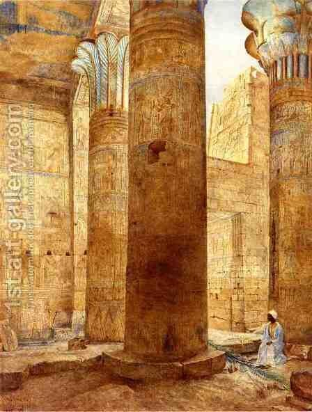 Temple of Philae, Nubia by Henry Roderick Newman - Reproduction Oil Painting