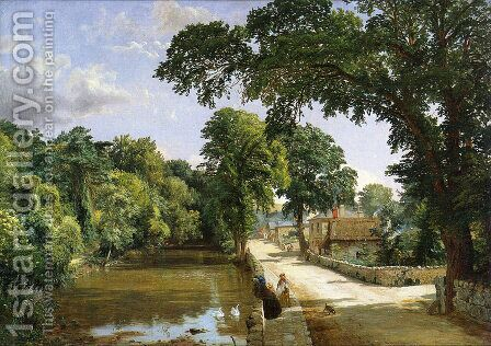 Bonchurch, Isle of Wight by Jasper Francis Cropsey - Reproduction Oil Painting