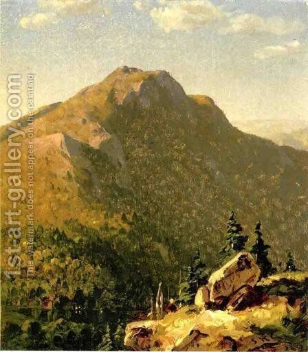 View of Catskills by Sanford Robinson Gifford - Reproduction Oil Painting