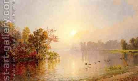 Hazy Afternoon, Autumn, 1873 by Jasper Francis Cropsey - Reproduction Oil Painting