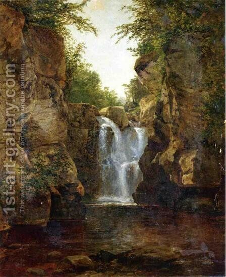 Bash Bish Falls I by John Frederick Kensett - Reproduction Oil Painting