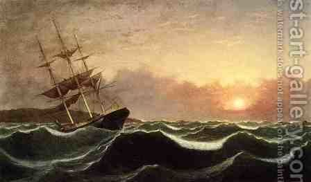 Sunset after Storm by Fitz Hugh Lane - Reproduction Oil Painting