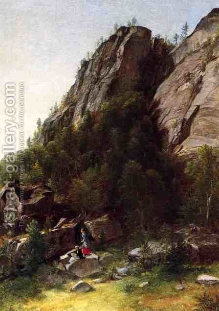 Landscape with Figures by Asher Brown Durand - Reproduction Oil Painting