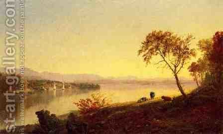 Along the River by Jasper Francis Cropsey - Reproduction Oil Painting